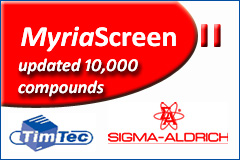 MyriaScreen II – diversity screening library from Sigma-Aldrich and TimTec